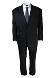 FLAIR BLACK TWILL SUIT-suits-BIGMENSCLOTHING.CO.NZ
